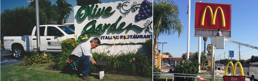 Installations of Resturant Signs